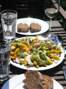 Mango Mozarella Salat