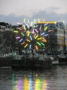 Lichtkunst auf der Amstel